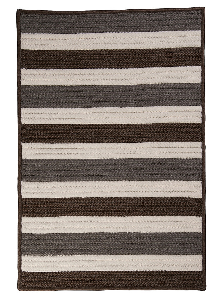 Portico Stone Grey Stripes Rug