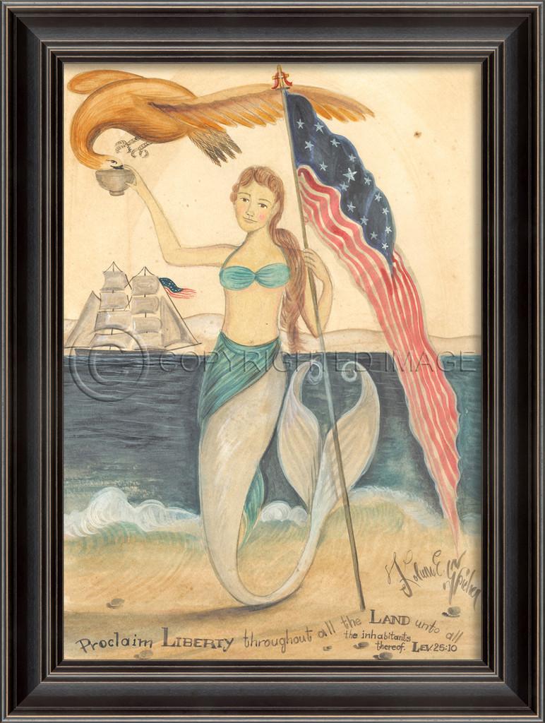 Mermaids Proclaim Liberty Wall Art