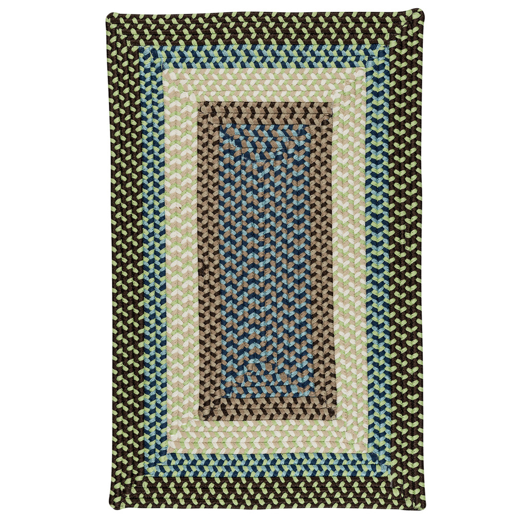 Montego Bright Brown Braided Area Rug