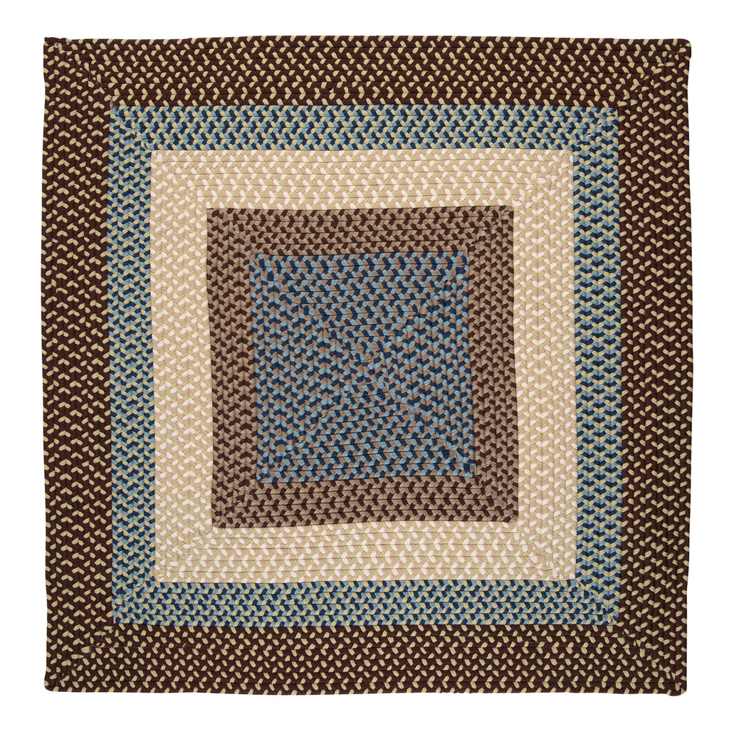 Montego Bright Brown Braided Square Area Rug