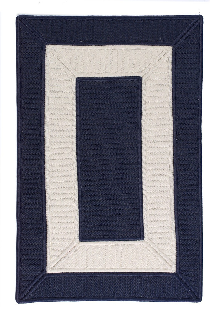 Rope Walk Navy and White Rug