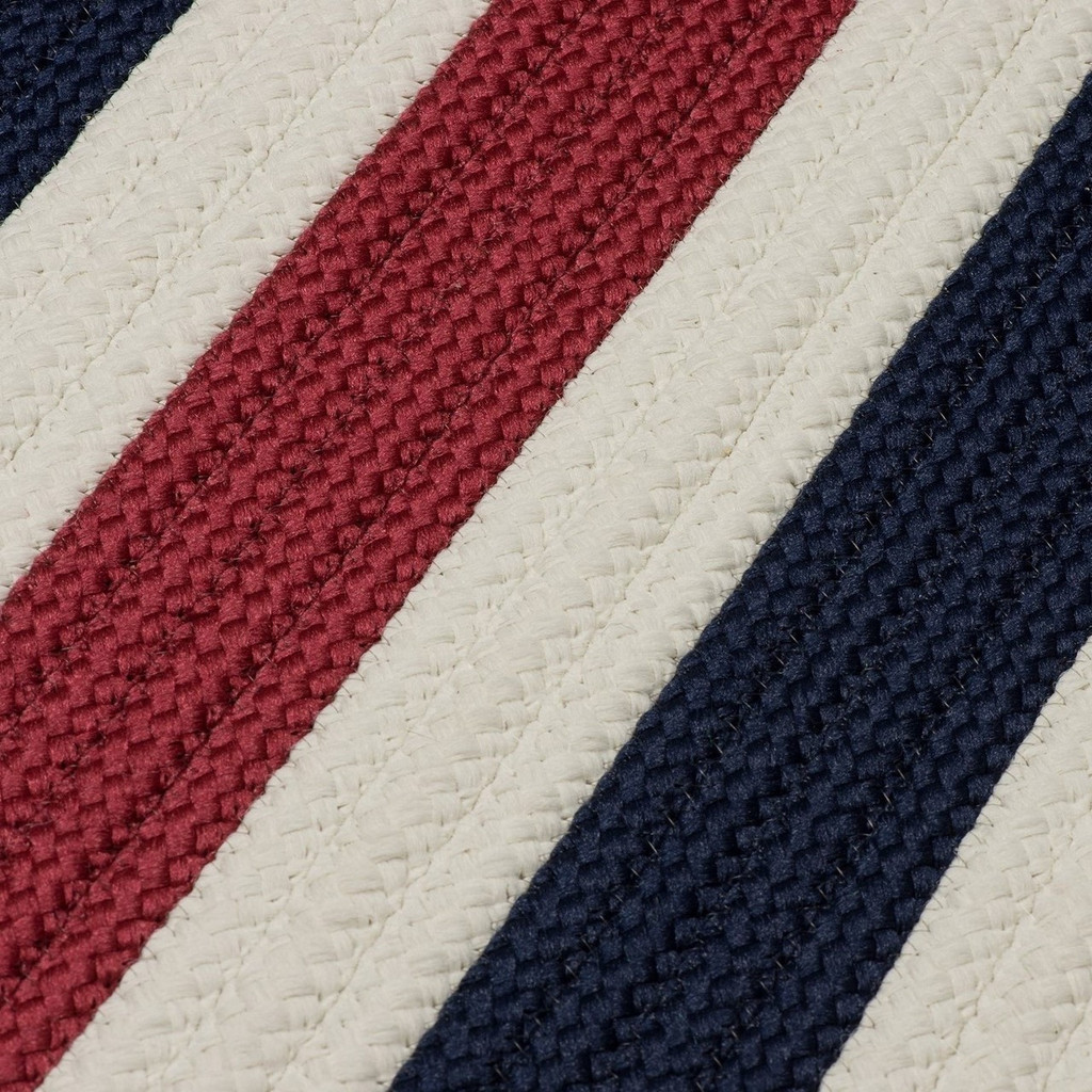 Portico Patriotic Stripes Rug close up