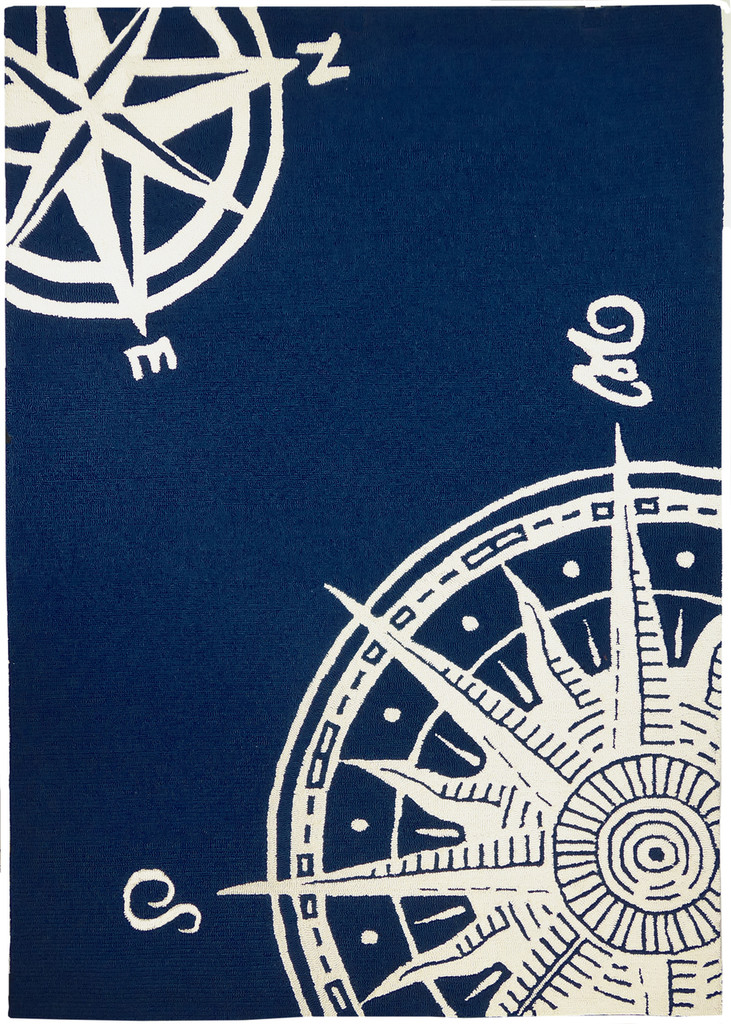 Sailor's Compass Indoor Outdoor Area Rug