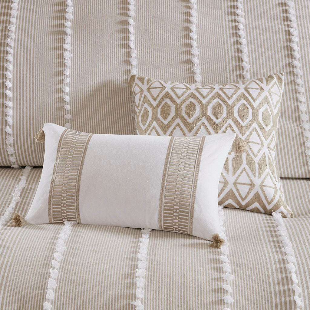 Saltwater and Dunes Comforter Set - Queen Size - shown with dec pillows