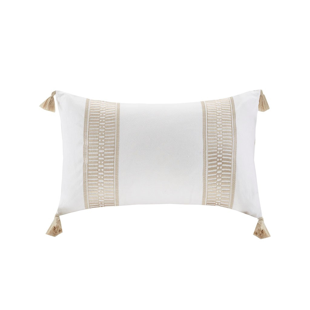 Saltwater and Dunes Tasseled Decorative Pillow