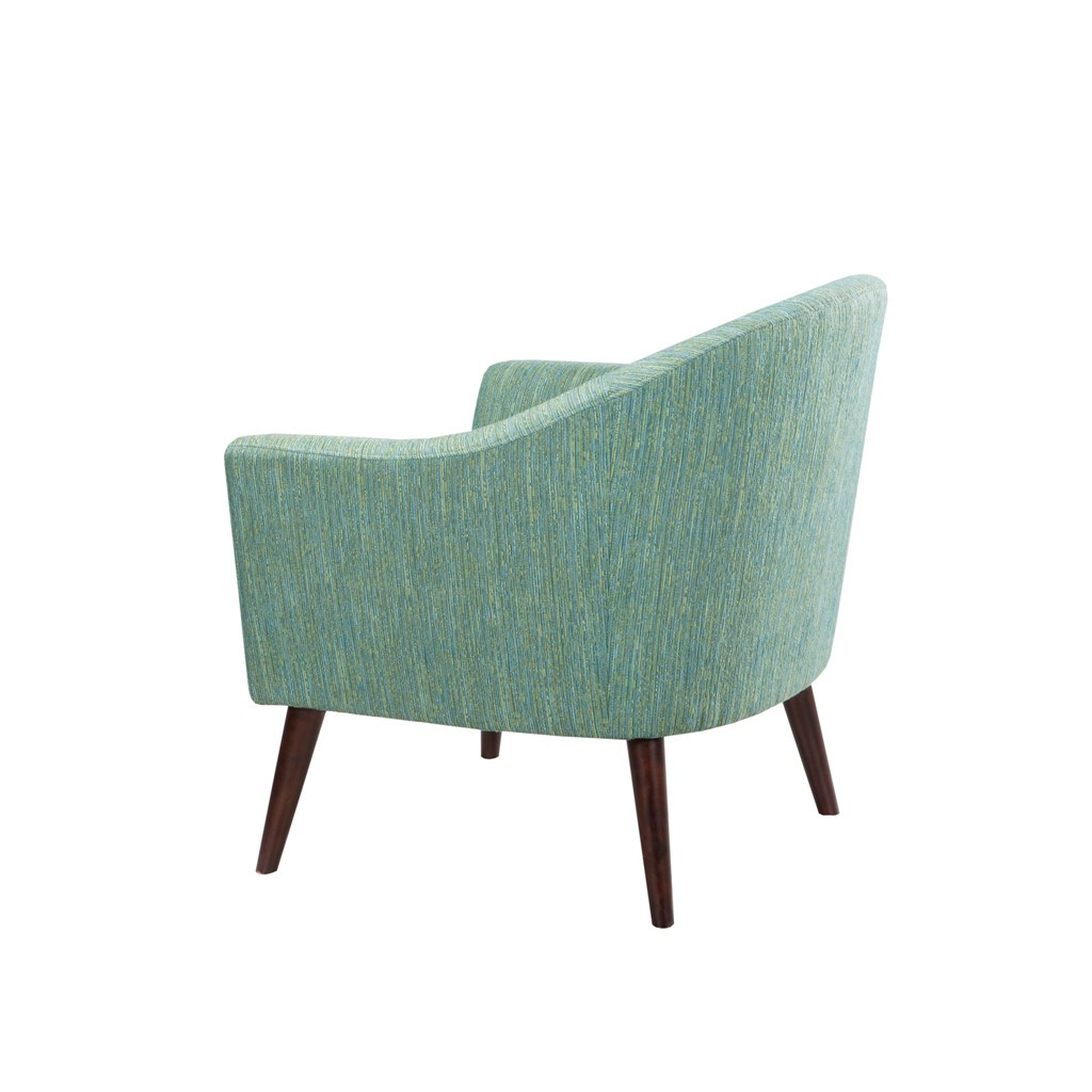 Surf Tide Mid-Century Accent Chair back