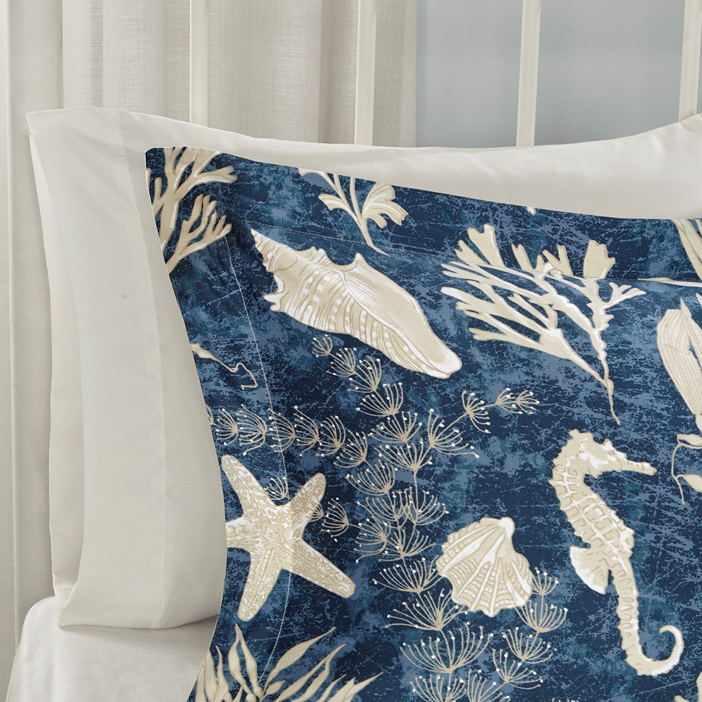 Neptune 7-Piece Queen Size Comforter Set shams