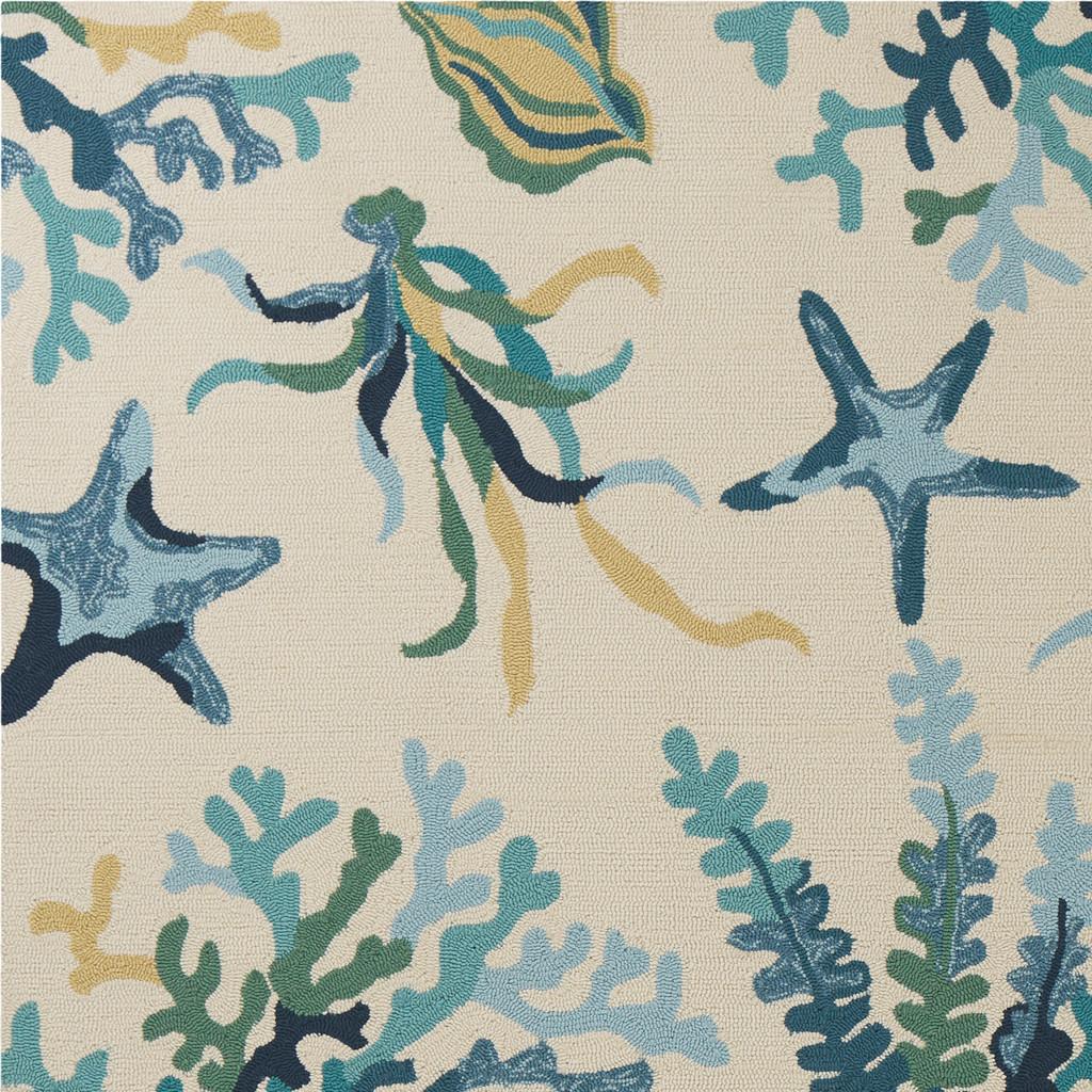 Harbor Blue Oceania Indoor-Outdoor Rug close up 2