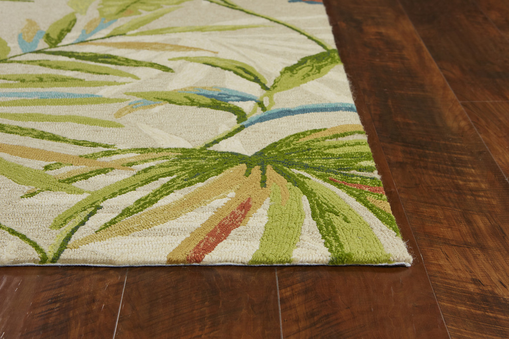 Sand and Palms Playa Tropical Indoor-Outdoor Rug corner image