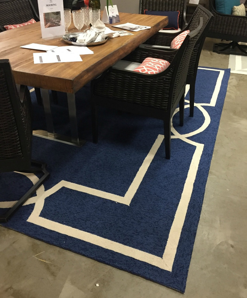 Hamptons Ocean Blue Madison Rug by Libby Langdon room image