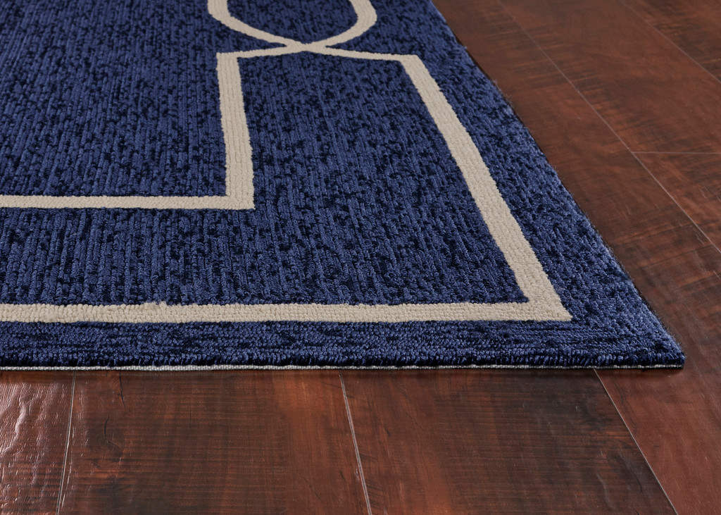 Hamptons Ocean Blue Madison Rug corner and pile