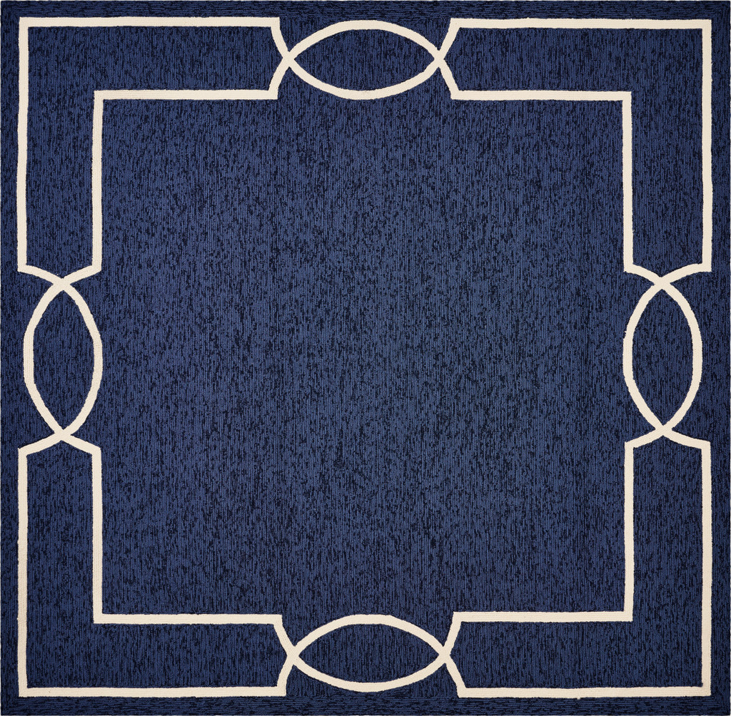 Hamptons Ocean Blue Madison Rug square