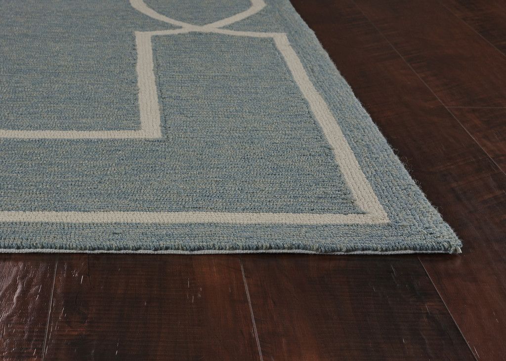 Hamptons Spa Blue Madison Rug by Libby Langdon  corner-pile image