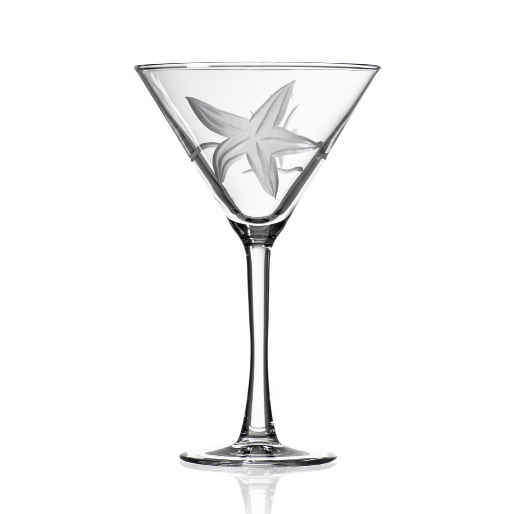 Starfish Etched Martini Glasses single image