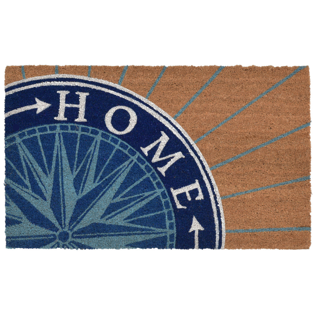 Welcome Home Blue Compass Natura Coir Door Mat