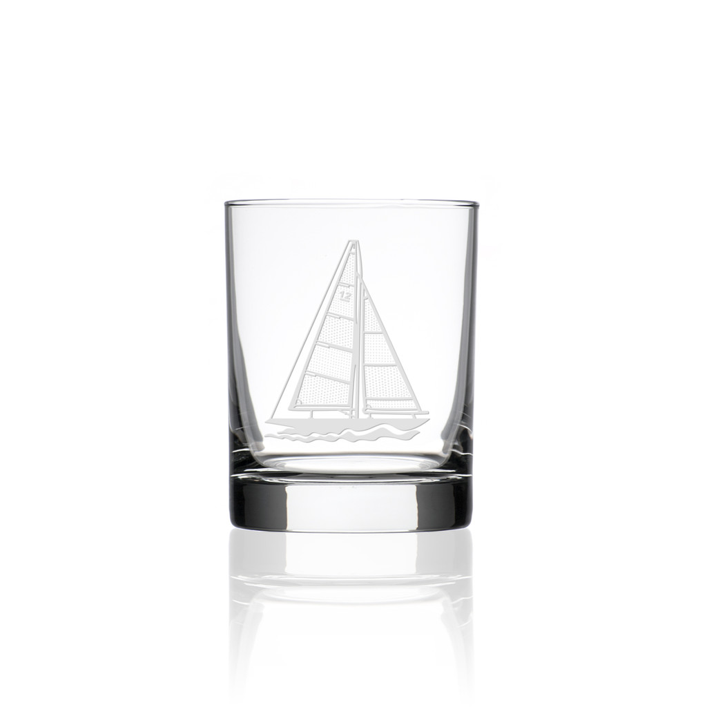 Sailboat Double Old Fashioned Glasses - Single image