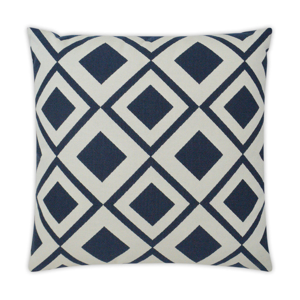 Savvy Navy and White Pillow