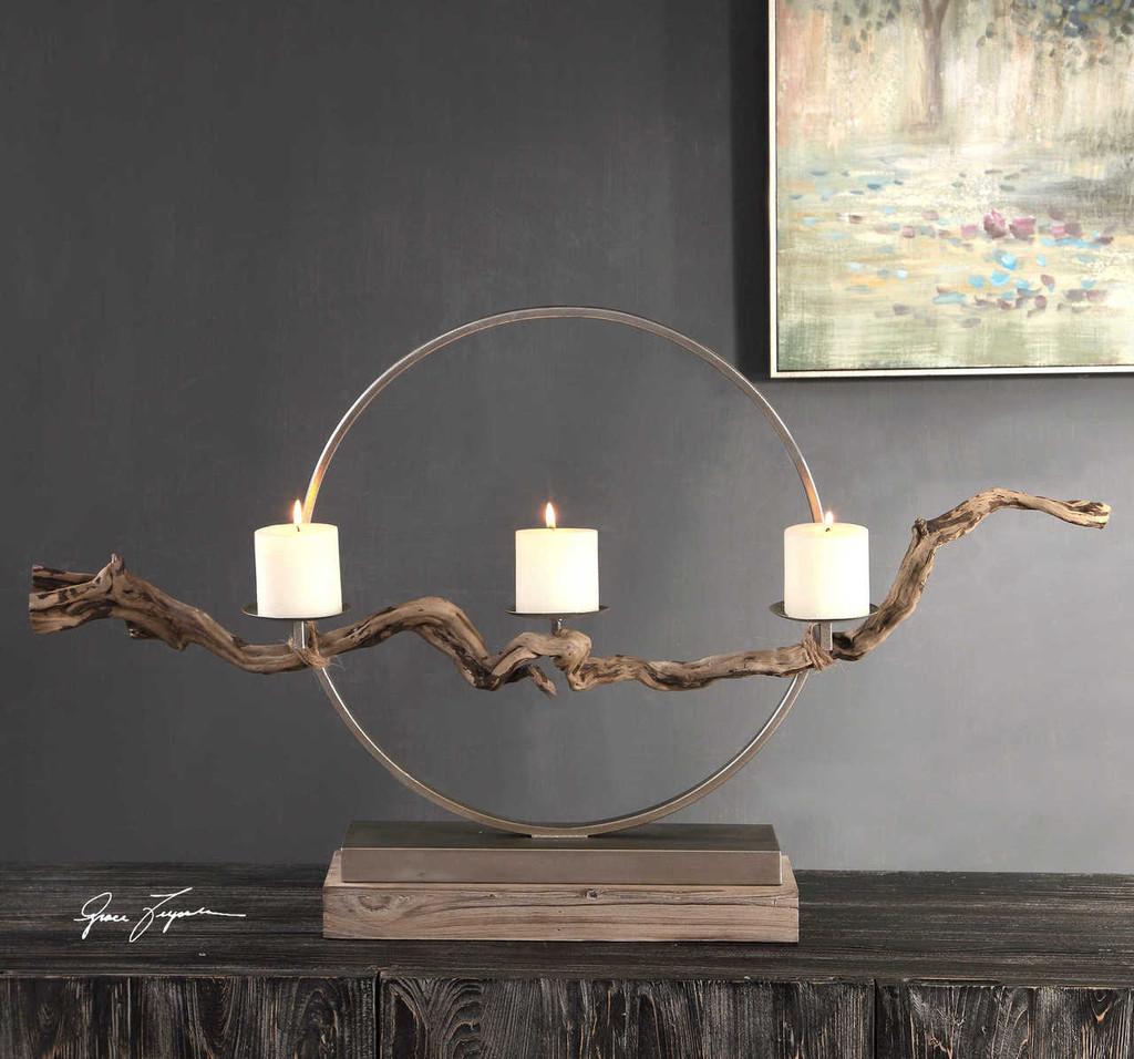 Ameera Driftwood Candleholder