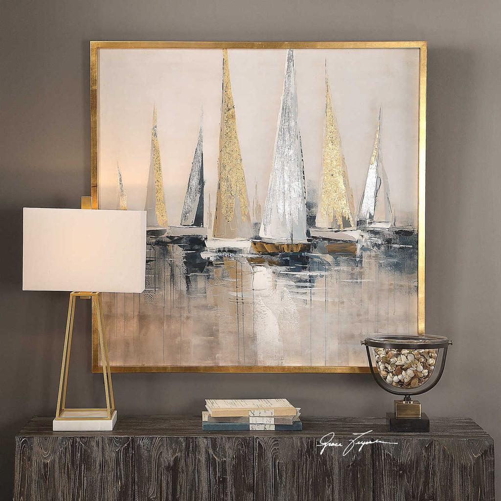 Regatta Canvas Art room image