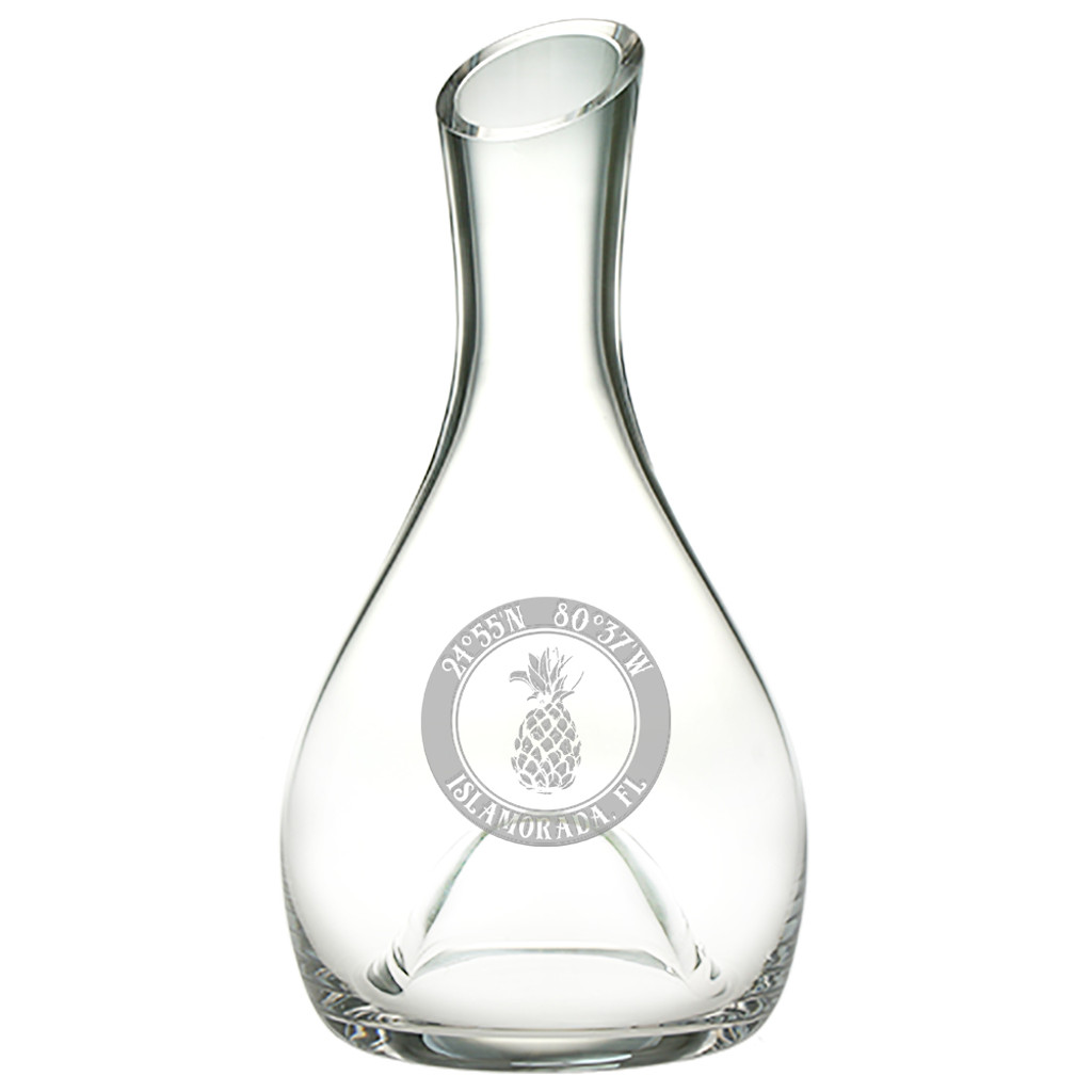 Custom Coordinates Pineapple Punted Carafe
