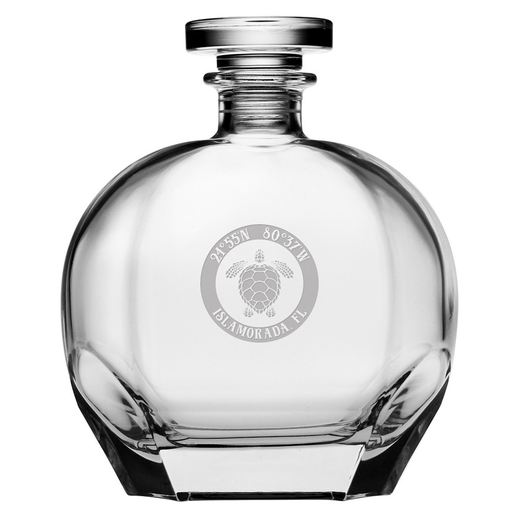 Custom Coordinates Sea Turtle Puccini Decanter