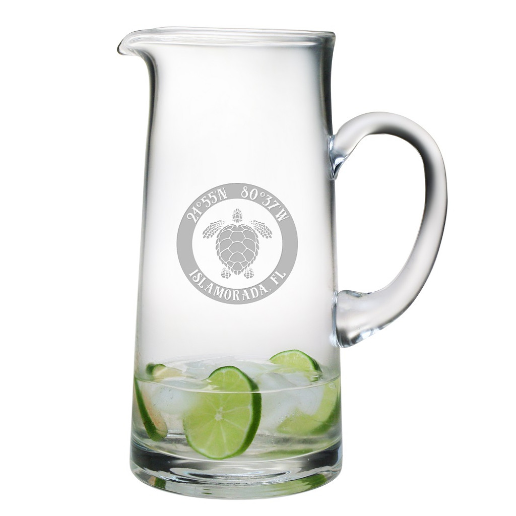 Custom Coordinates Sea Turtle Large Pitcher