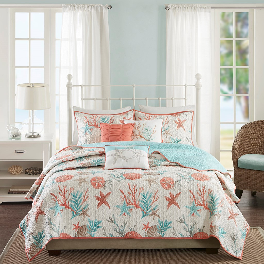 Pebble Beach Quilted Coverlet Queen Size Set view 2