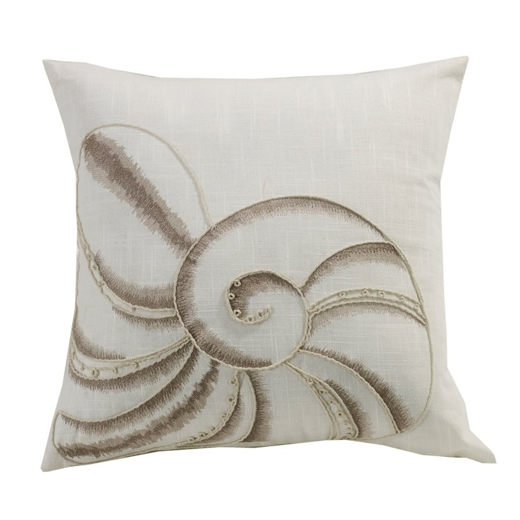 Seashell Embroidery Pillow
