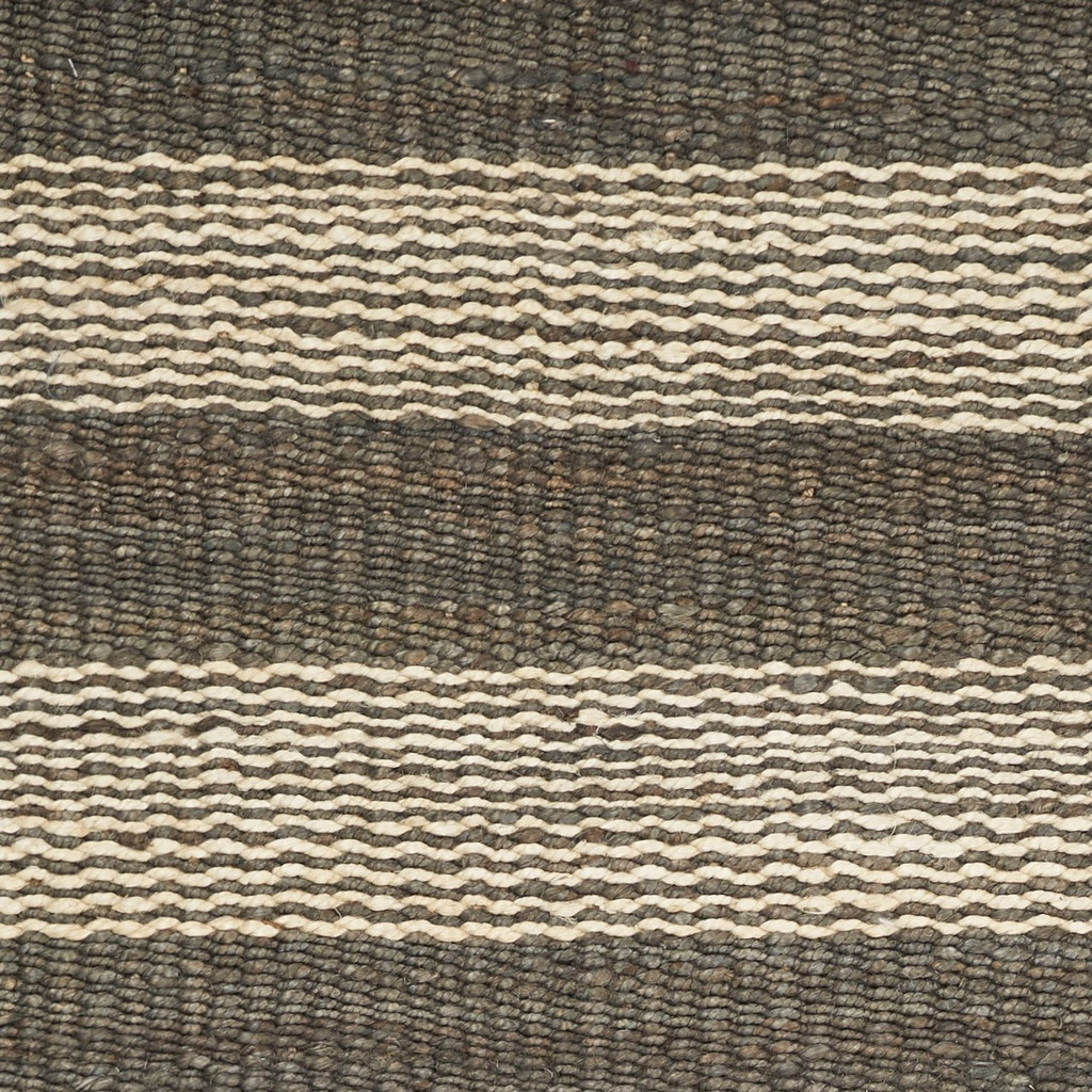 Hang Ten Slate and Ivory Stripe Horizons Rug close up