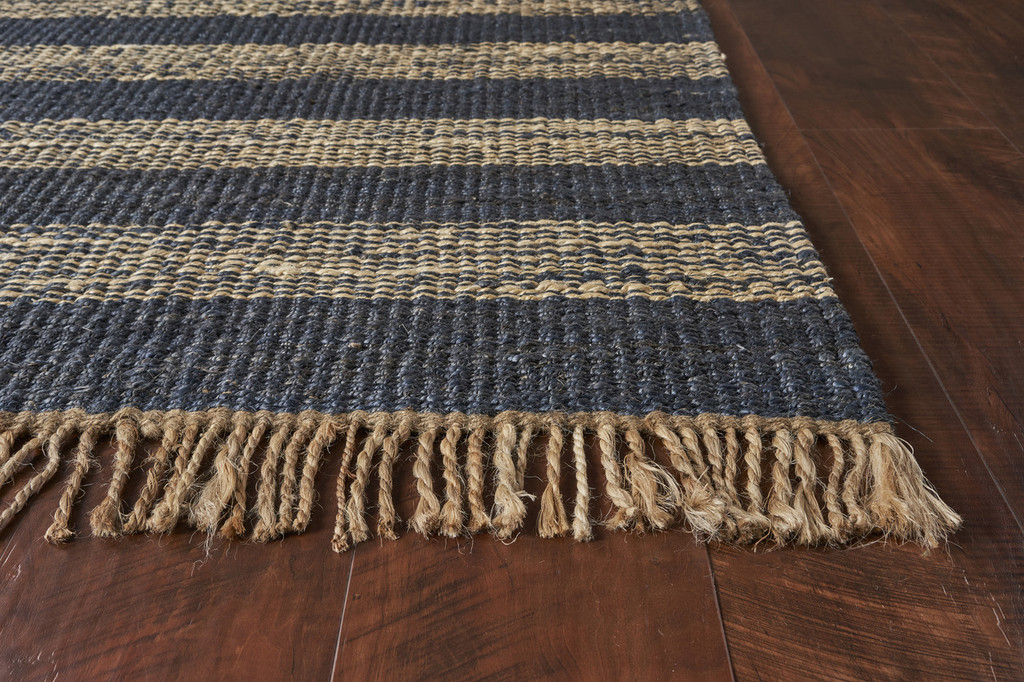 Hang Ten Navy Stripes Horizons Rug corner