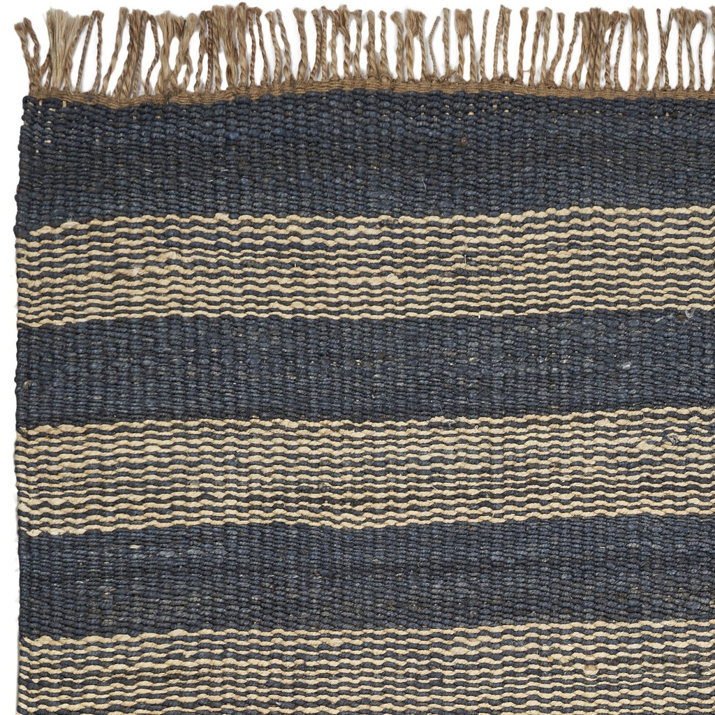 Hang Ten Navy Stripes Horizons Rug close up