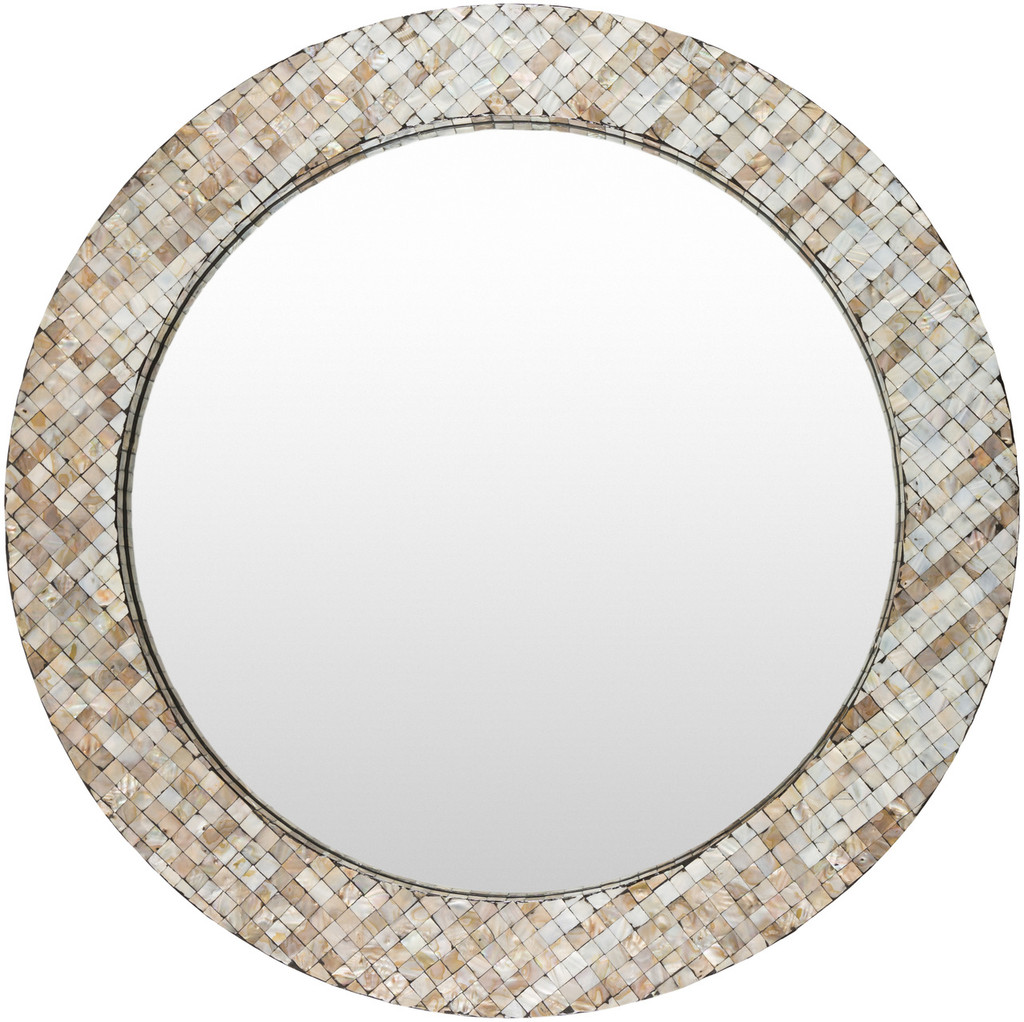 Hornbrook Mother of Pearl Round Mirror