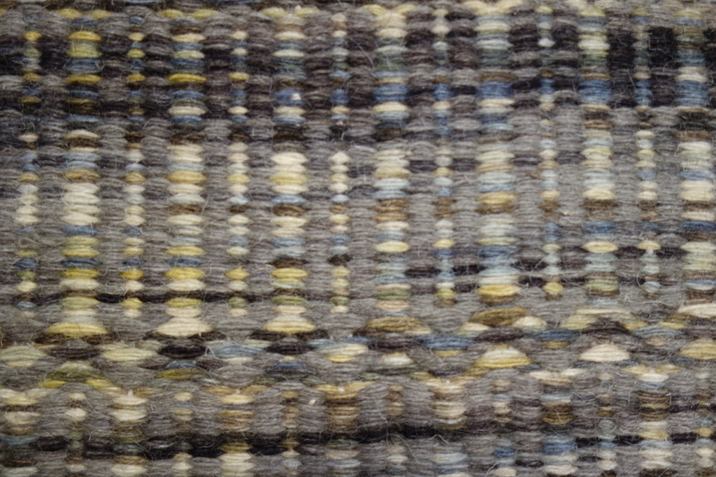 Slate Mission Homespun Area Rug close up detail