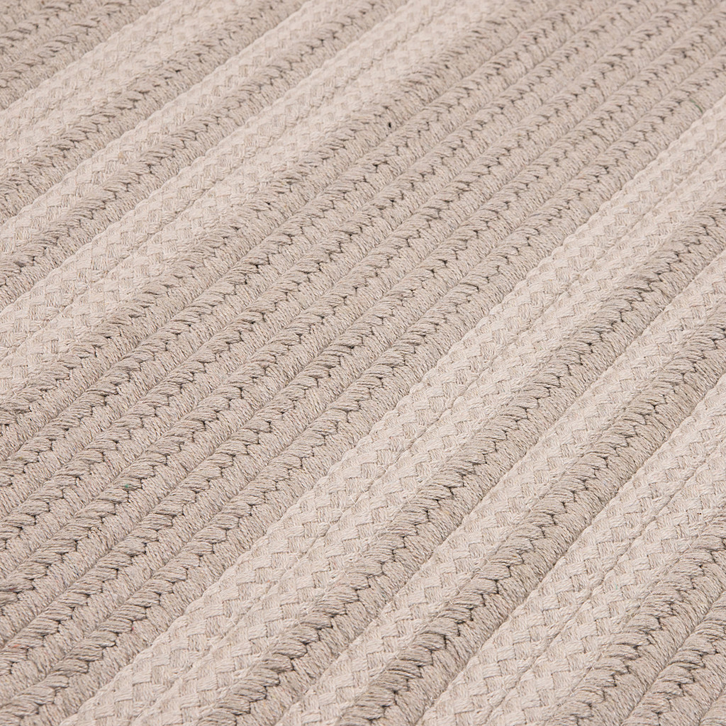 Light Ash Grey Sunbrella Southport Stripe Rug close up