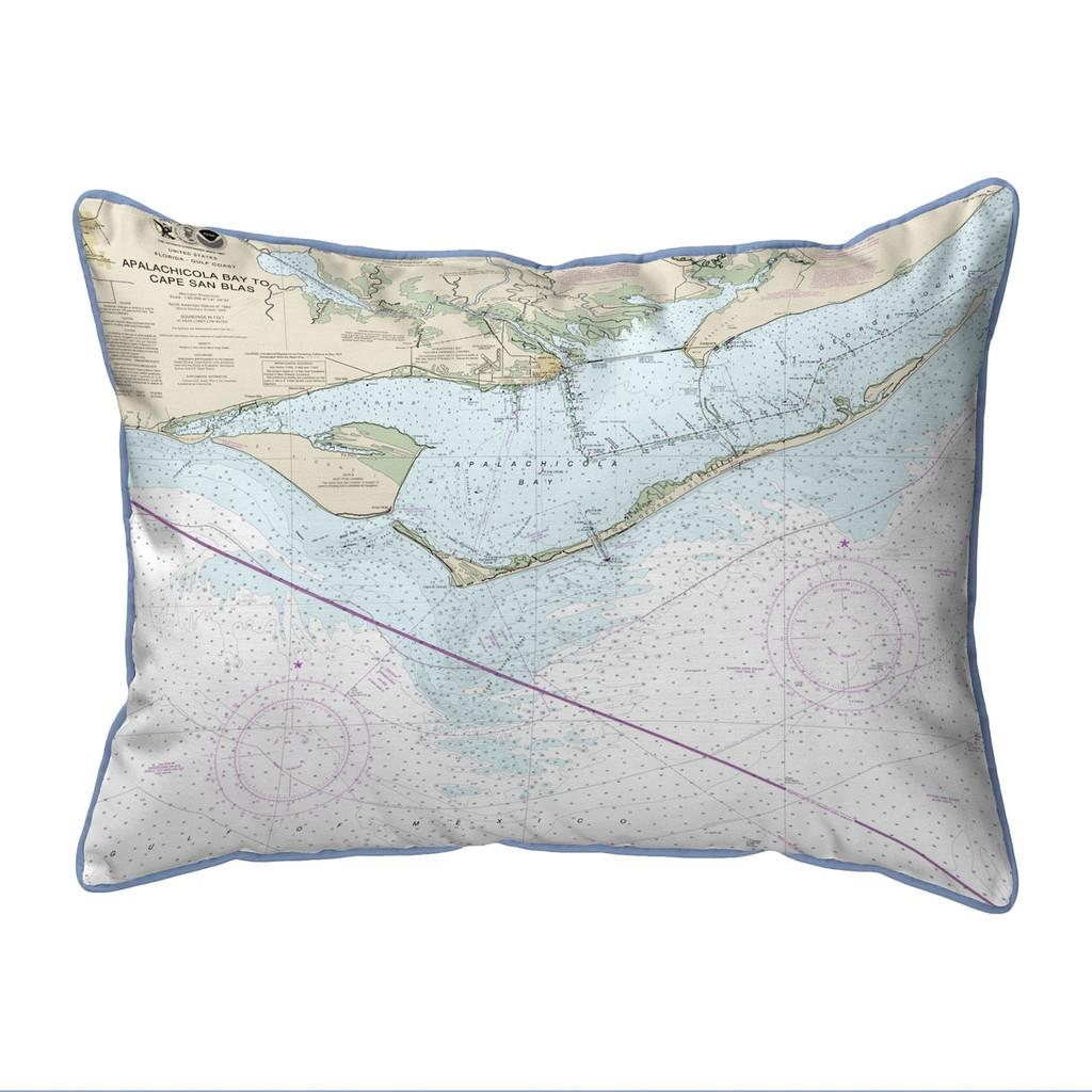 St. George Island Florida Nautical Chart 24 x 20 Pillow
