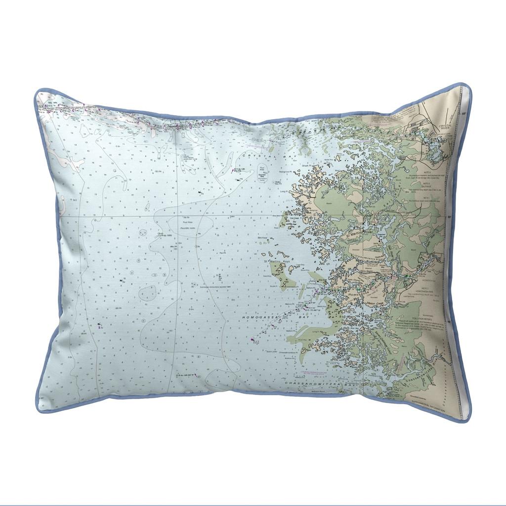 Crystal River Florida Nautical Chart 24 x 20 Pillow