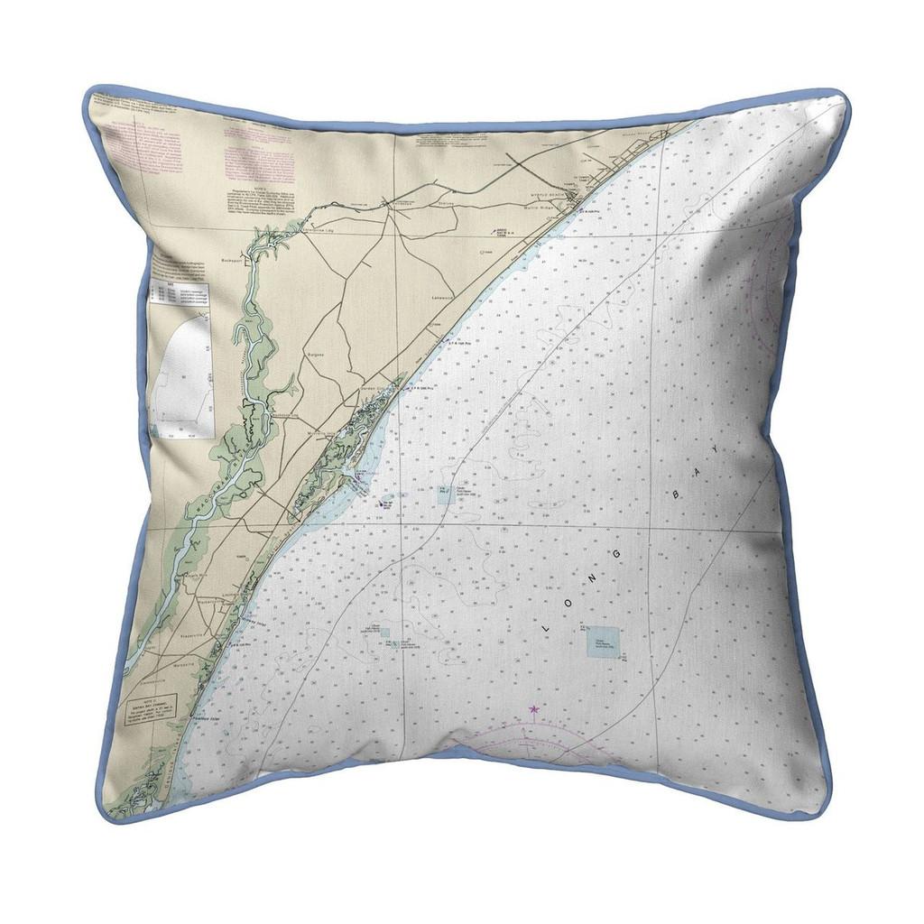 Pawleys Island South Carolina Nautical Chart 20 x 24 Pillow
