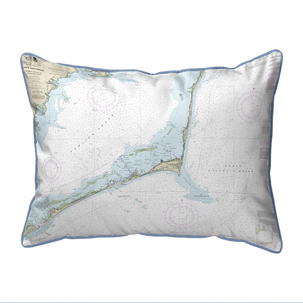 Cape Hatteras, NC Nautical Map 20 x 24 Pillow