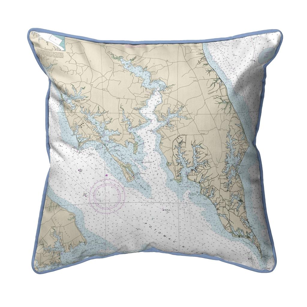 Leonardtown, MD Nautical 22 x 22 Pillow
