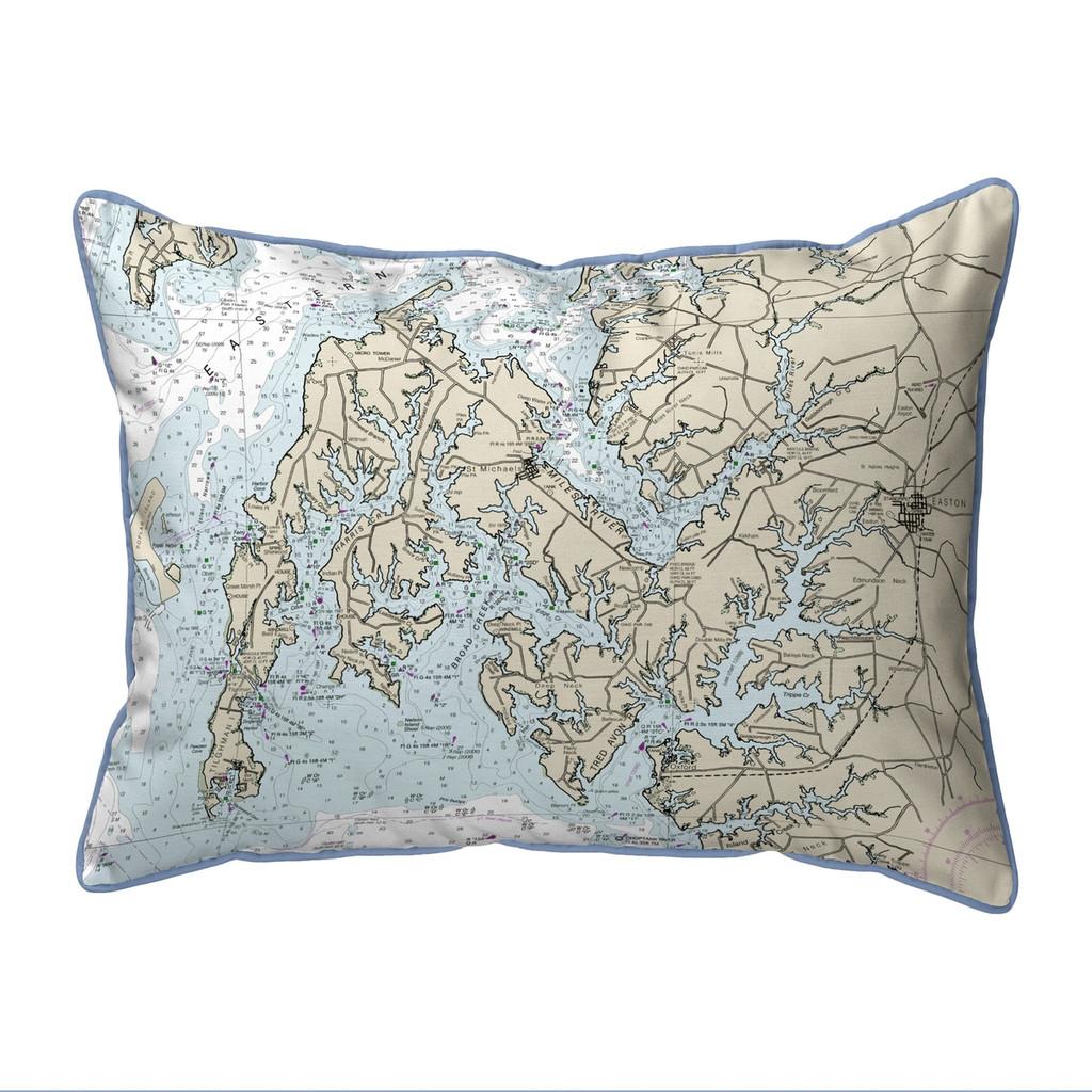 Easton, MD Nautical Map 20 x 24  Pillow