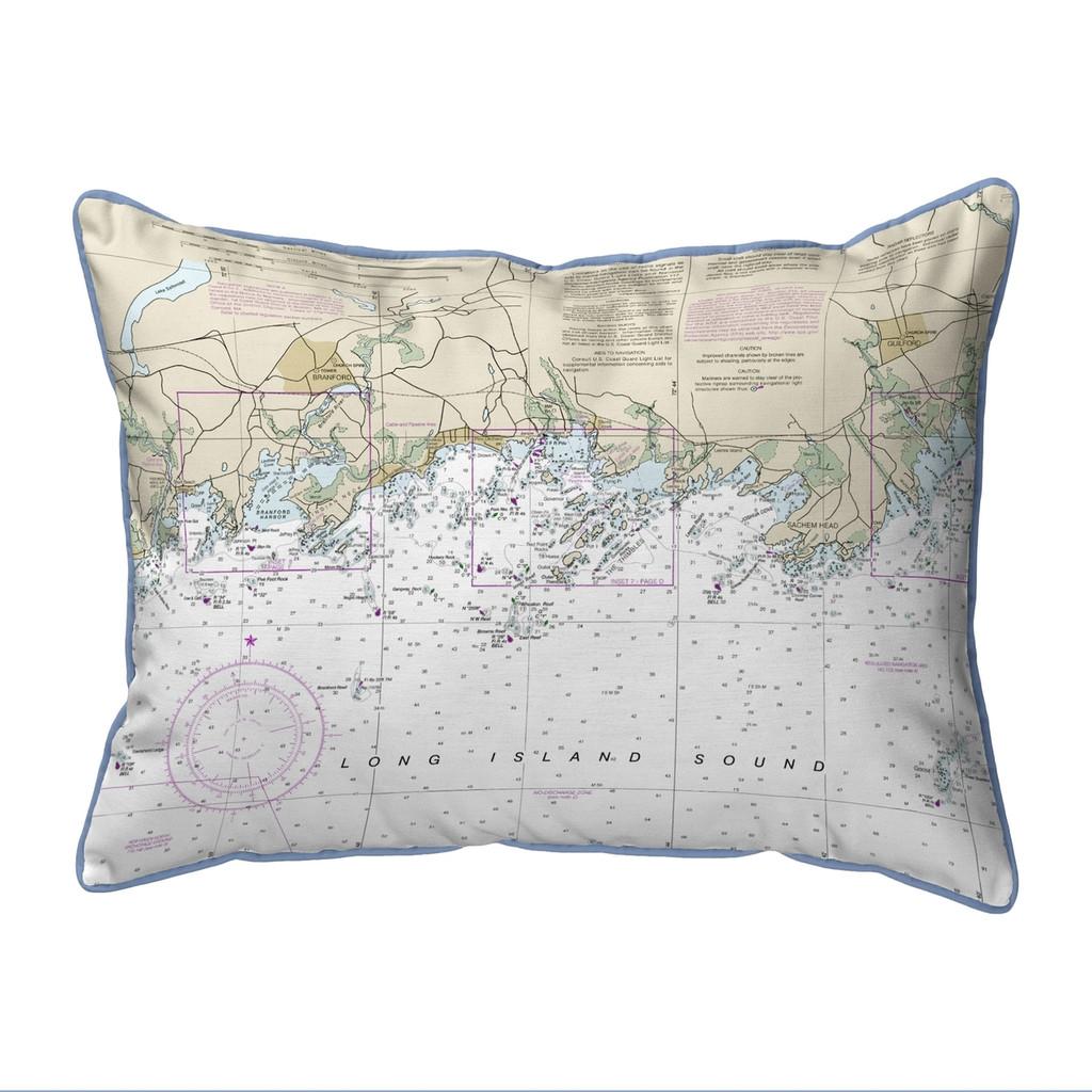Long Island Sound, New York  Nautical Chart 20 x 24 Pillow