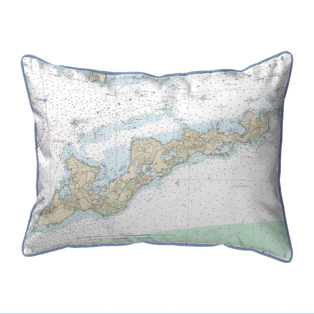 Fishers Island, Rhode Island  Nautical Chart 20 x 24 Pillow