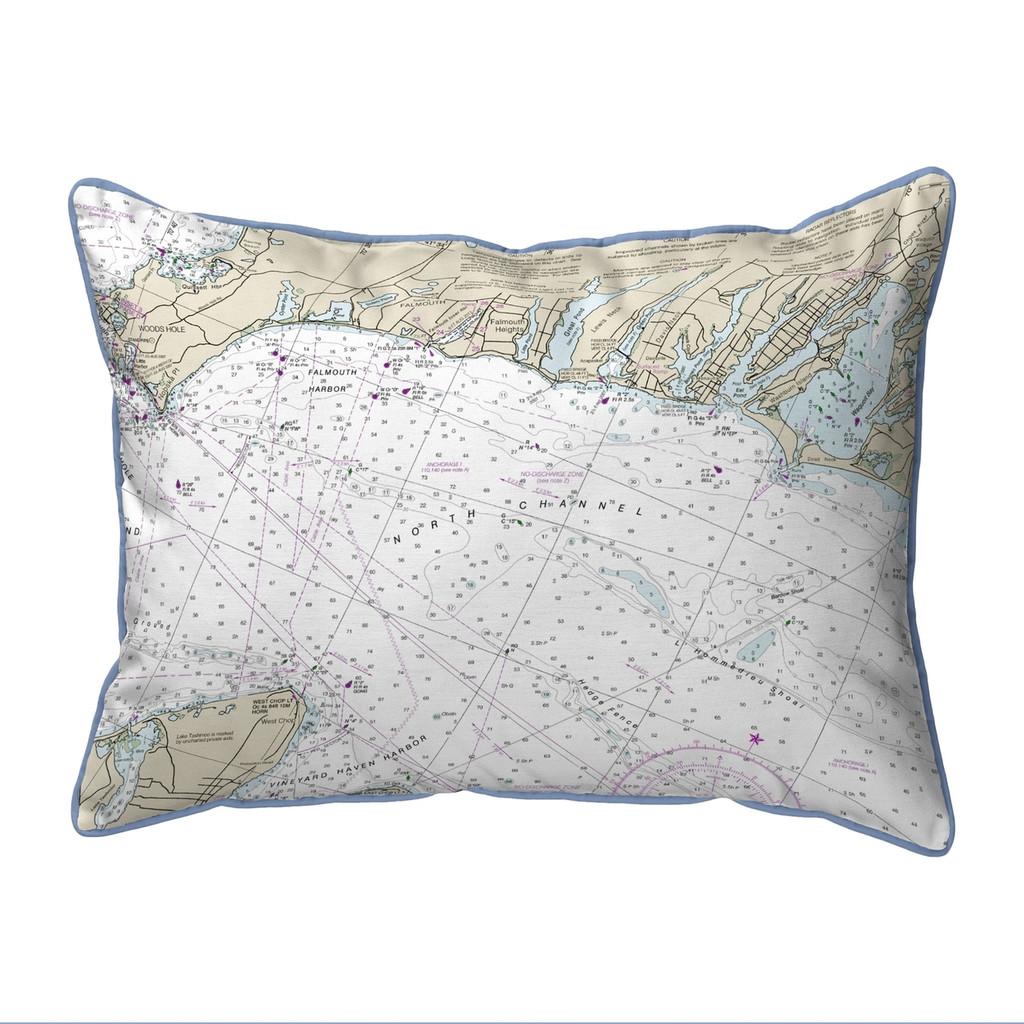 Falmouth Harbor, MA Nautical Chart 20 x 24 Pillow