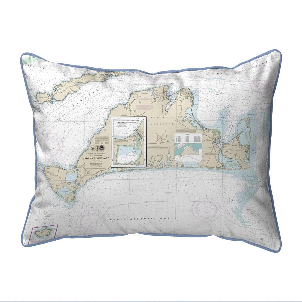 Martha's Vineyard, MA Nautical Chart 20 x 24 Pillow