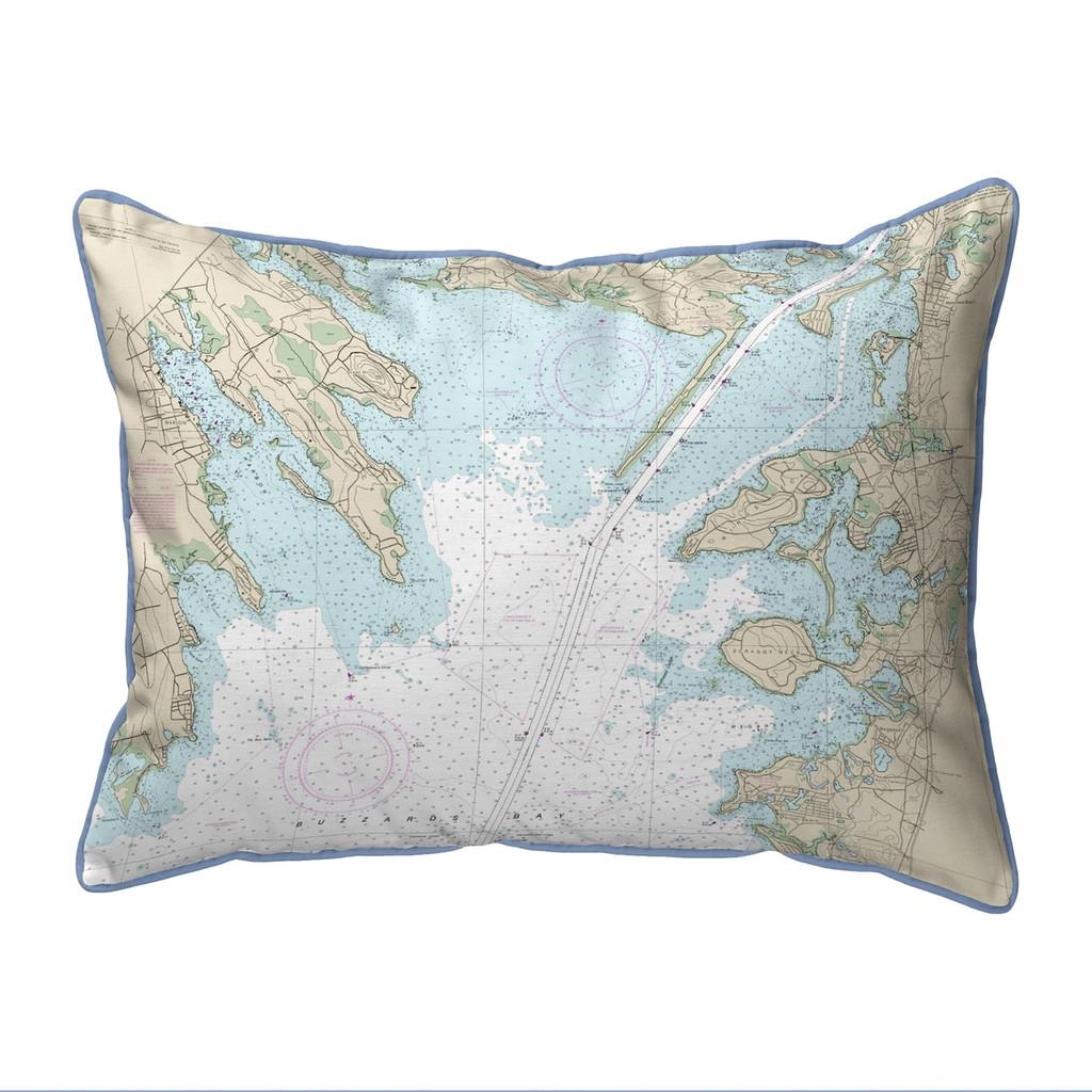 Cape Cod, MA Nautical Chart 20 x 24 Pillow