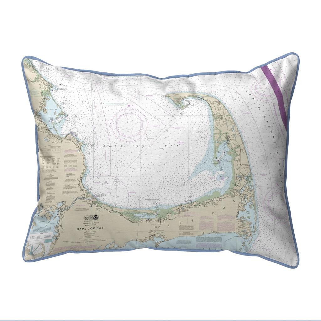 Cape Cod Bay, MA Nautical Chart 20 x 24 Pillow