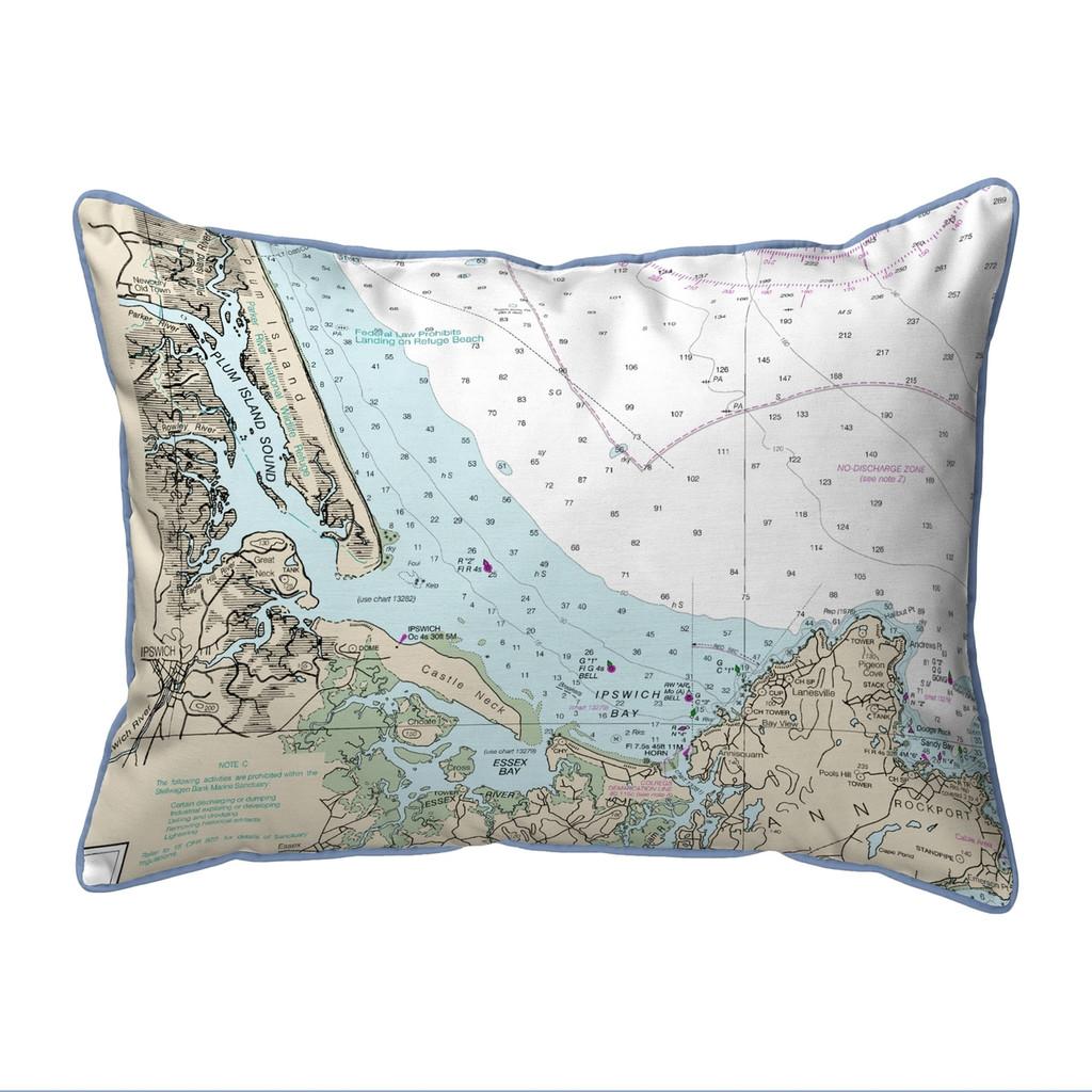 Plum Island Sound, MA Nautical Chart 20 x 24 Pillow