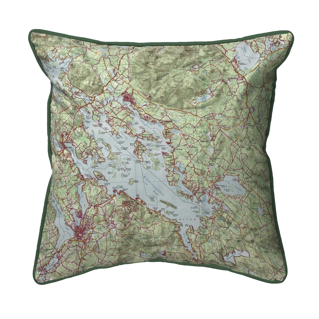 Lake Winnipesaukee, New Hampshire Nautical Map 22 x 22 Pillow
