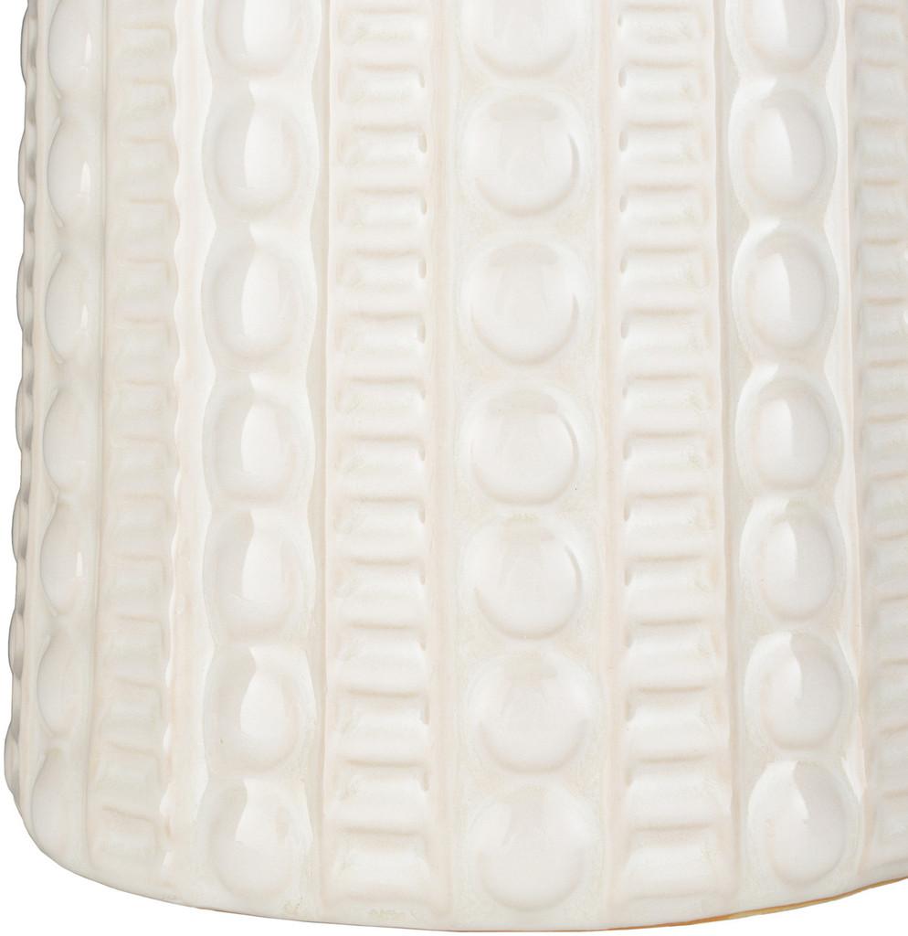 Swell Carmel Ivory Table Lamp base close up