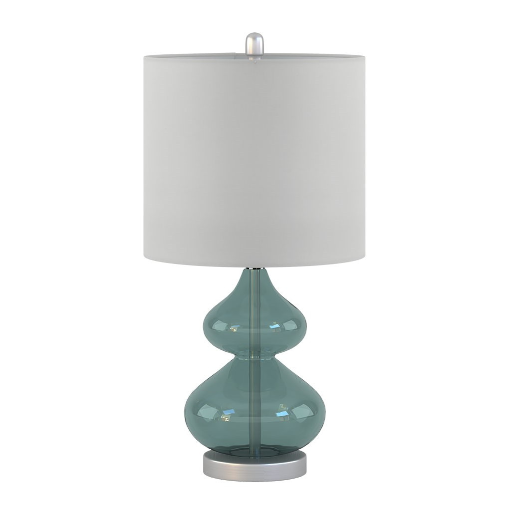 Waterfront Glass Table Lamps - Set of 2 non-lit